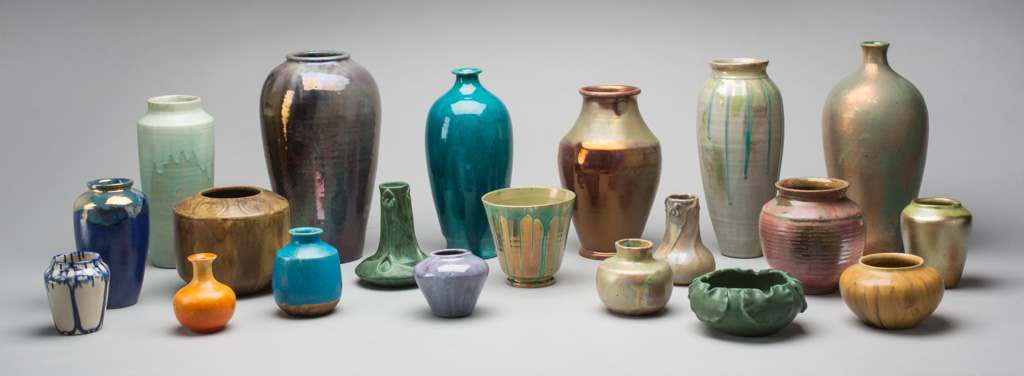 collection of assorted ceramic vases