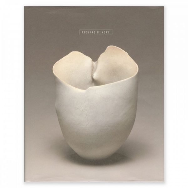 Richard De Vore catalog cover with white vase