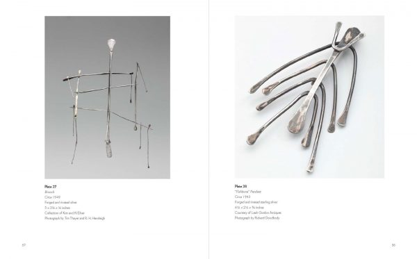catalog spread of 1940s silver sculptures