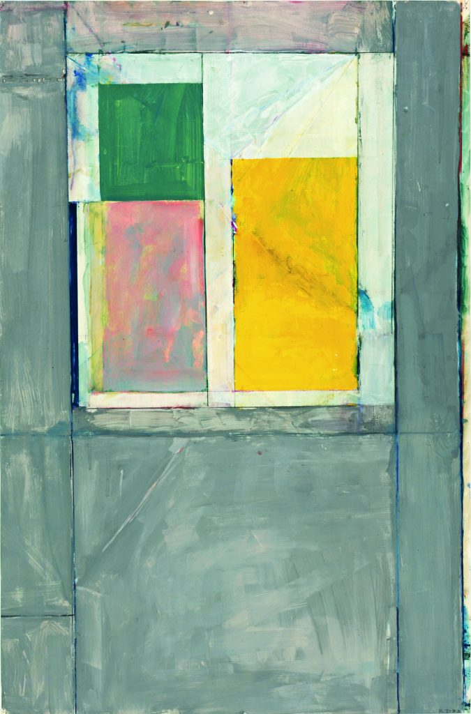 """Richard Diebenkorn, """"Untitled #14,"""" 1983. Gouache, acrylic, and crayon on paper. Gift of Rose M. Shuey, from the Collection of Dr. John and Rose M. Shuey"""