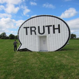 The Truth Booth at the Hasselbring Park Senior Center