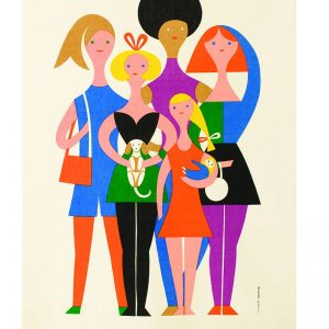 Alexander Girard, Girls, colorful geometric figures