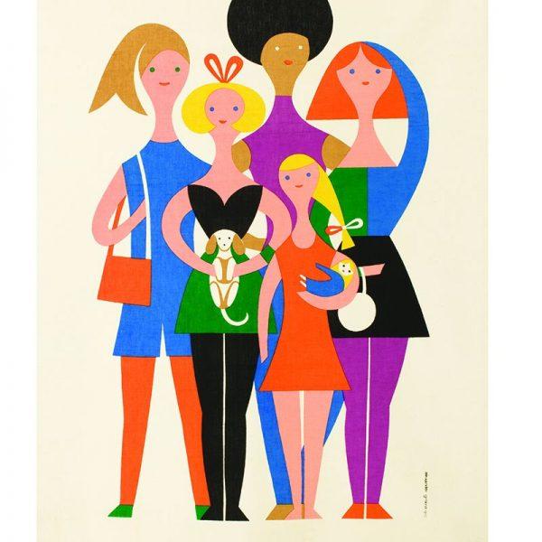 Alexander Girard, Girls, colorful geometric figures