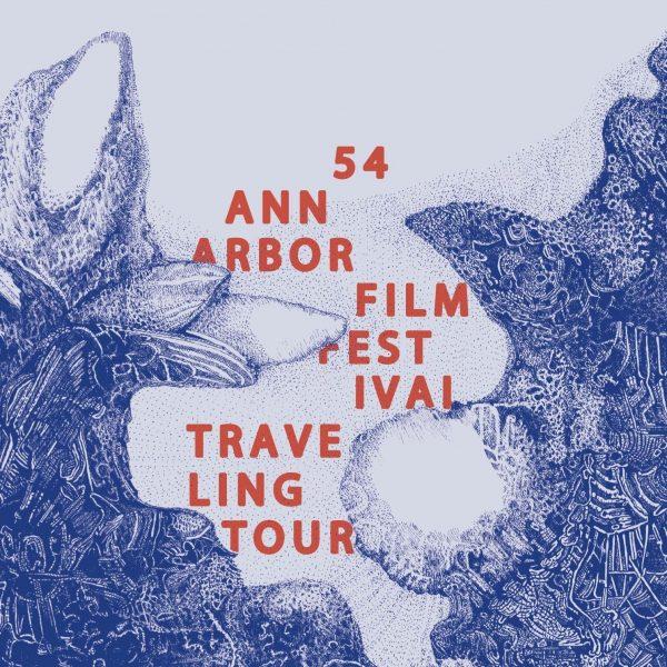 Ann Arbor film festival blue and red poster