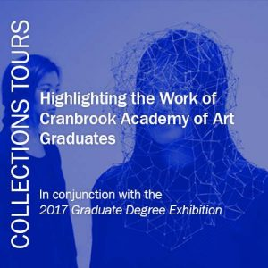 Collections Tours, 2017 Graduate Degree Exhibition digital poster