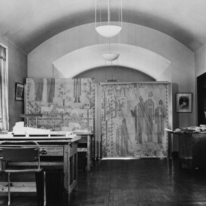 Saarinen studio, paintings