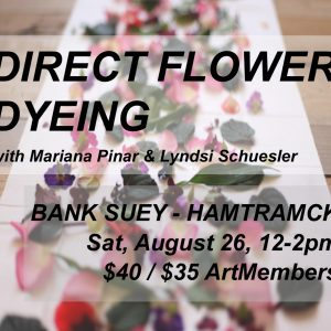 Museum Makery: Direct Flower Dyeing