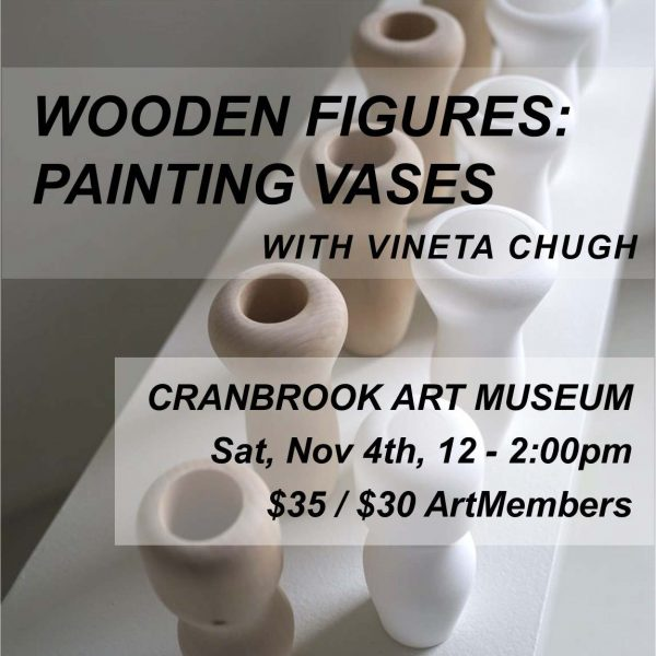 Wooden Figures Painting Vases poster