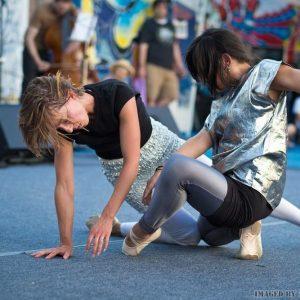 Lisa LaMarre, dancers posing on the floor