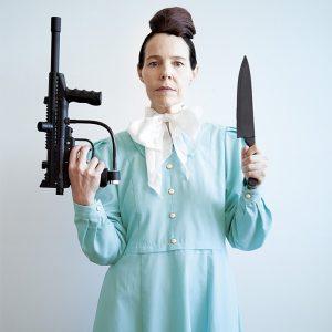 Angela Ellsworth woman with gun and knife