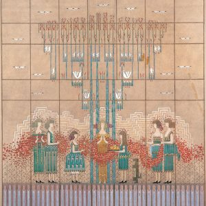 Saarinen Loja Eliel, Study May Queen wall mural