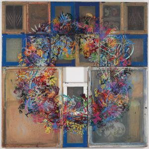 Ryan McGinness graffiti wreath
