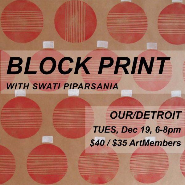 Block Print poster image, square