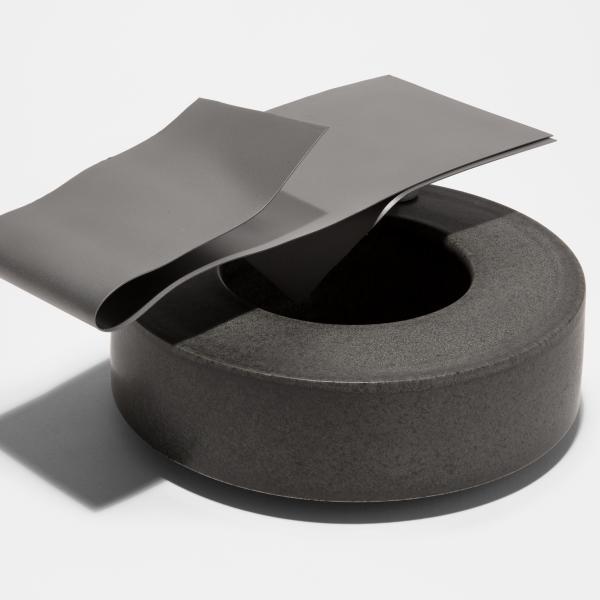 Ian McDonald black sculpture
