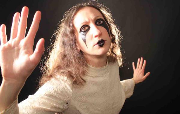 Rachel Mason, headshot with face paint