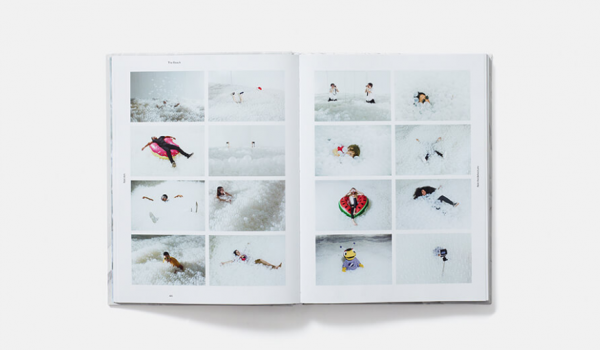 Book with images of people experiencing The Beach