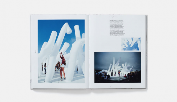 Book with image of girl experiencing art installation