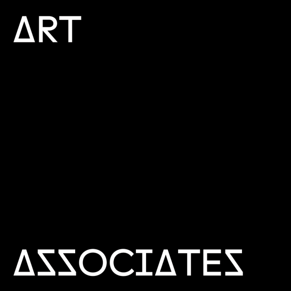 Art Associates white font with black background