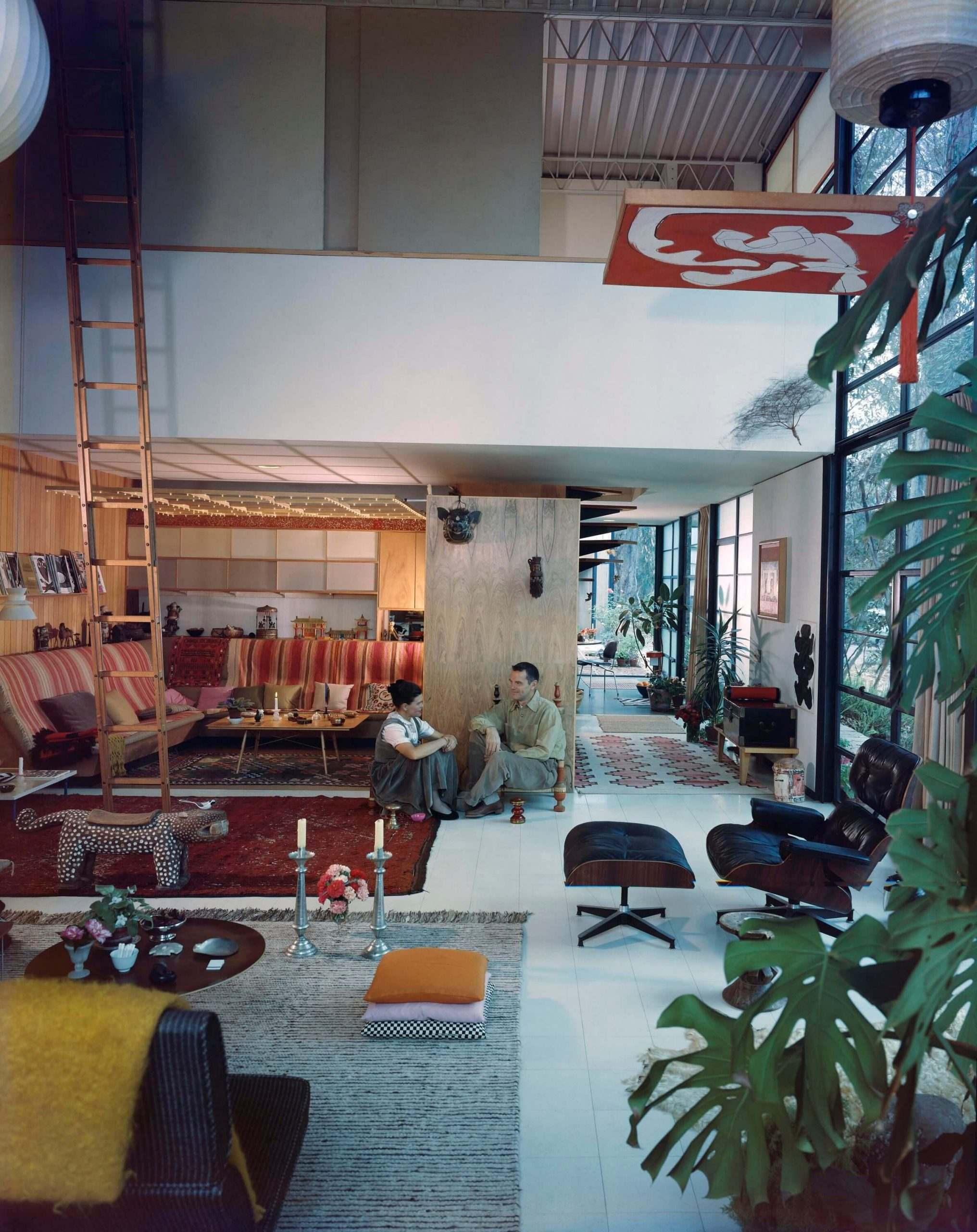 Ray and Charles Eames in Study House