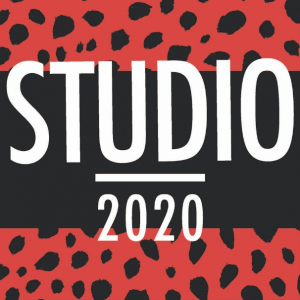 Studio 2020 on black and red background