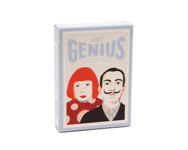"""Pack of Cards """"Art Genius"""" with illustrated portraits of artists on front"""