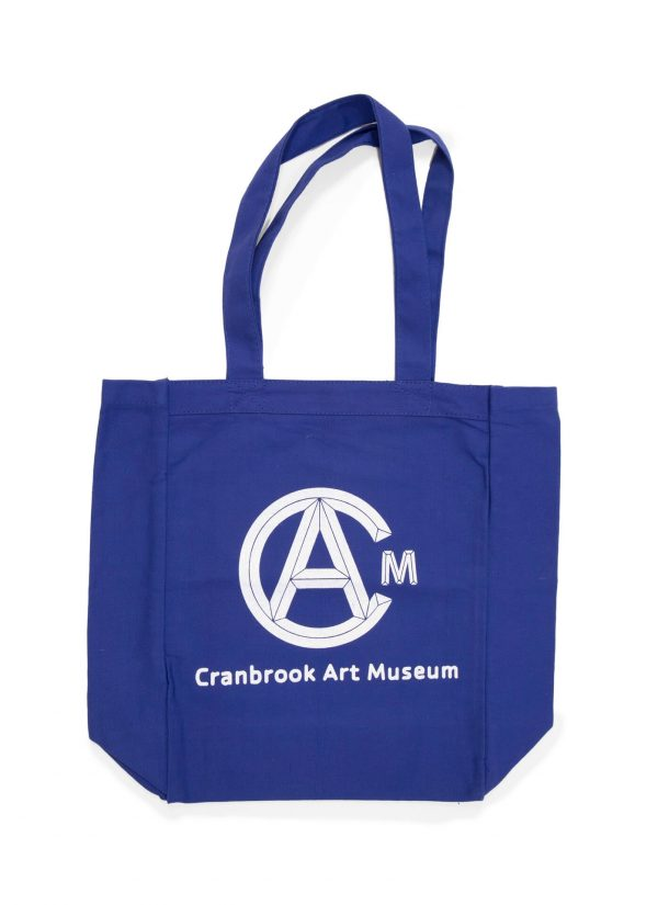 Blue Tote Bag with White Cranbrook Art Museum Logo
