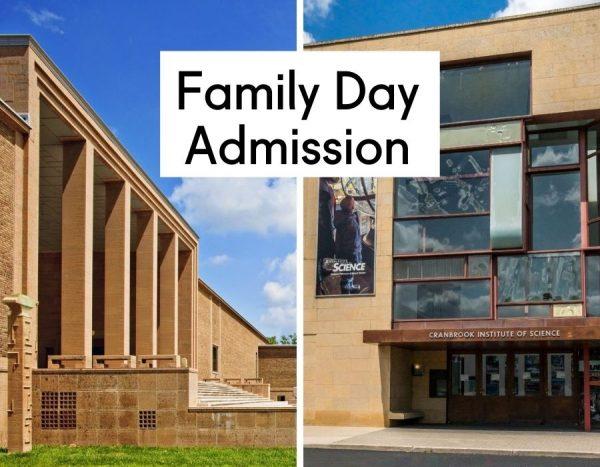 images of Cranbrook Art Museum and Cranbrook Institute of Science building exteriors