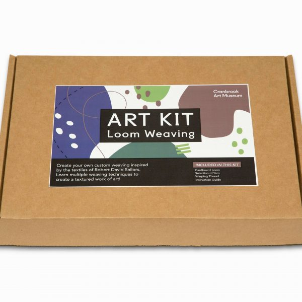 "Thin cardboard box with ""Art Kit"" label."