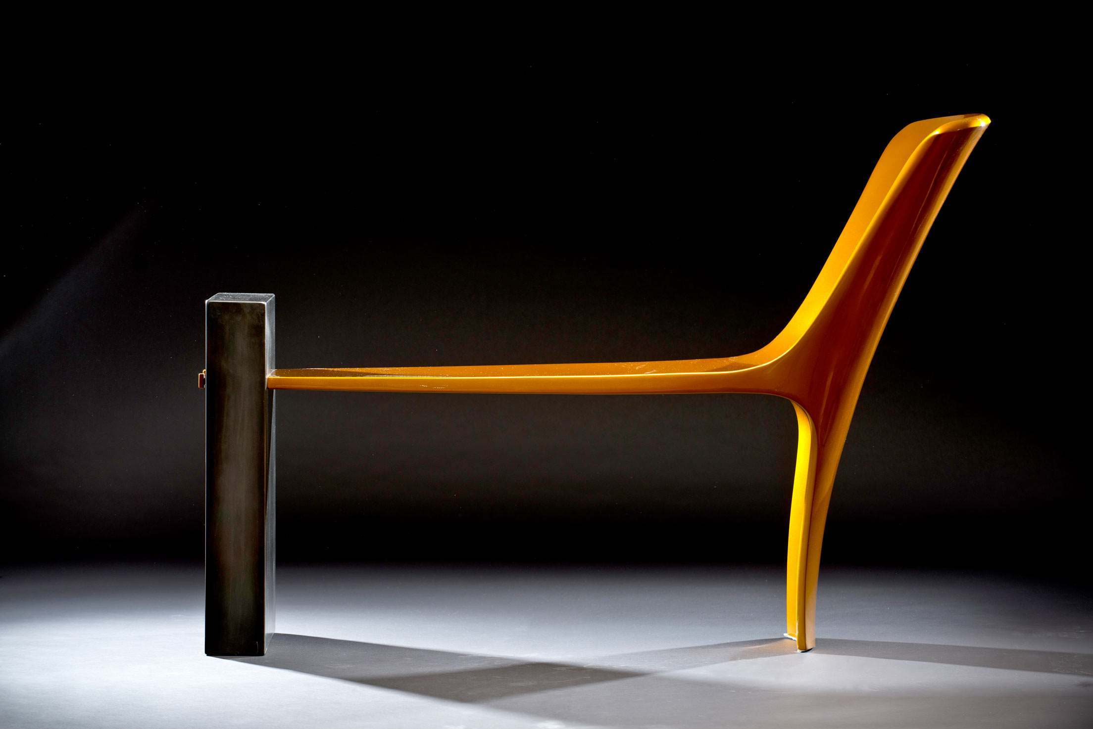 Contemporary bench by Vivian Beer